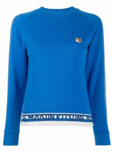Maison Kitsuné fox head patch sweatshirt - Blue