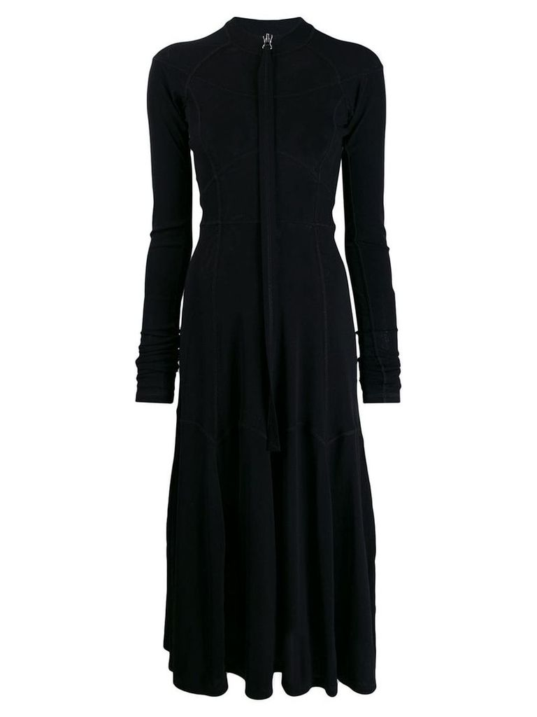 Jil Sander zipped midi dress - Black