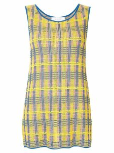 Le Ciel Bleu check pattern knit top - Yellow
