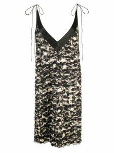Proenza Schouler Printed Fil Coupe Shift Dress - Black