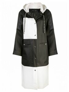 Proenza Schouler PSWL Colorblocked Long Raincoat - Black