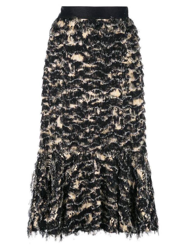 Proenza Schouler Printed Fil Coupe Long Skirt - Black