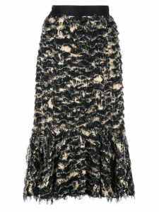 Proenza Schouler Printed Fil Coupe Long Skirt - Black