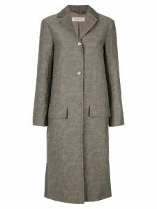 Nina Ricci textured single breasted coat - Grey