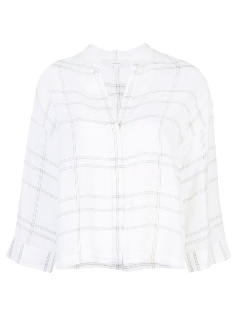 Vince large check blouse - White