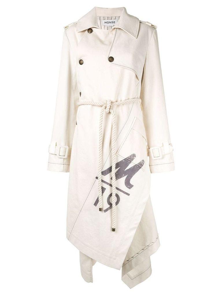 Monse canvas trench coat - Neutrals