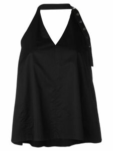 Tibi Tech poplin halter top - Black