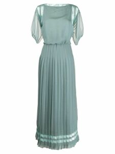 Giorgio Armani pleated shift dress - Green