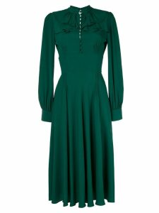 Nº21 ruffle flare dress - Green