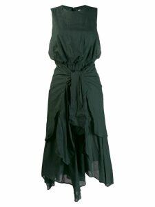 Enföld drape dress - Green