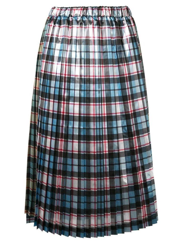 Nº21 plaid pleated skirt - Multicolour