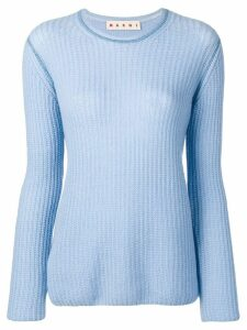Marni light ribbed sweater - Blue
