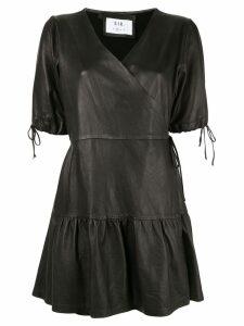 Sir. Jerome wrap mini dress - Black
