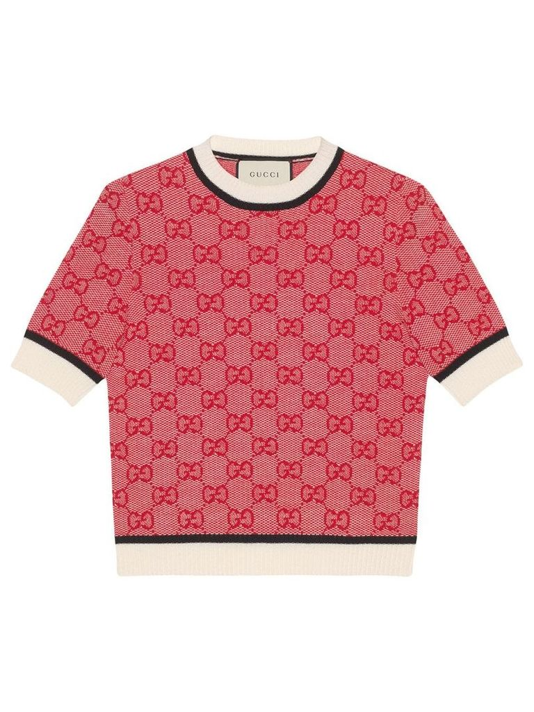 Gucci GG knit top - Red