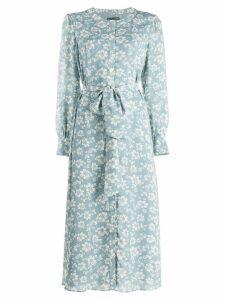 Alexa Chung floral print shirt dress - Blue