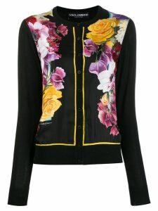 Dolce & Gabbana floral cardigan - Black