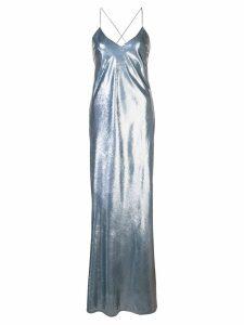 Michelle Mason bias maxi gown - Grey