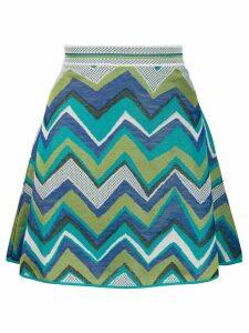M Missoni chevron pattern skirt - Blue
