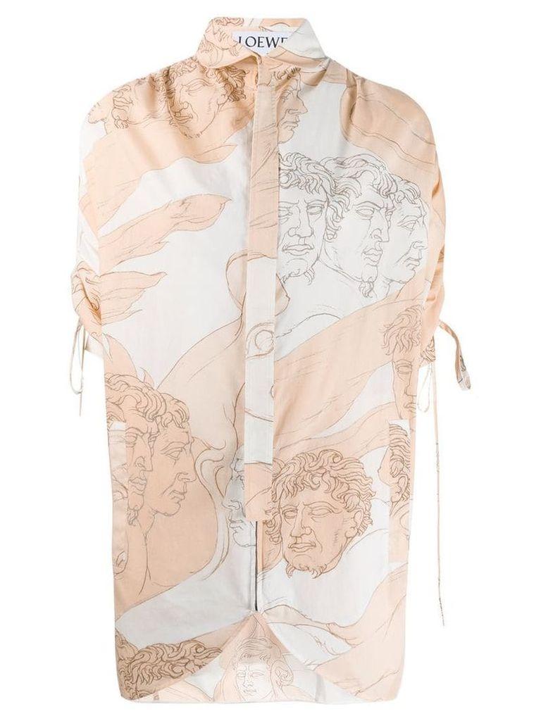 Loewe art print shirt - White