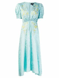 Saloni Lea embroidered dress - Blue