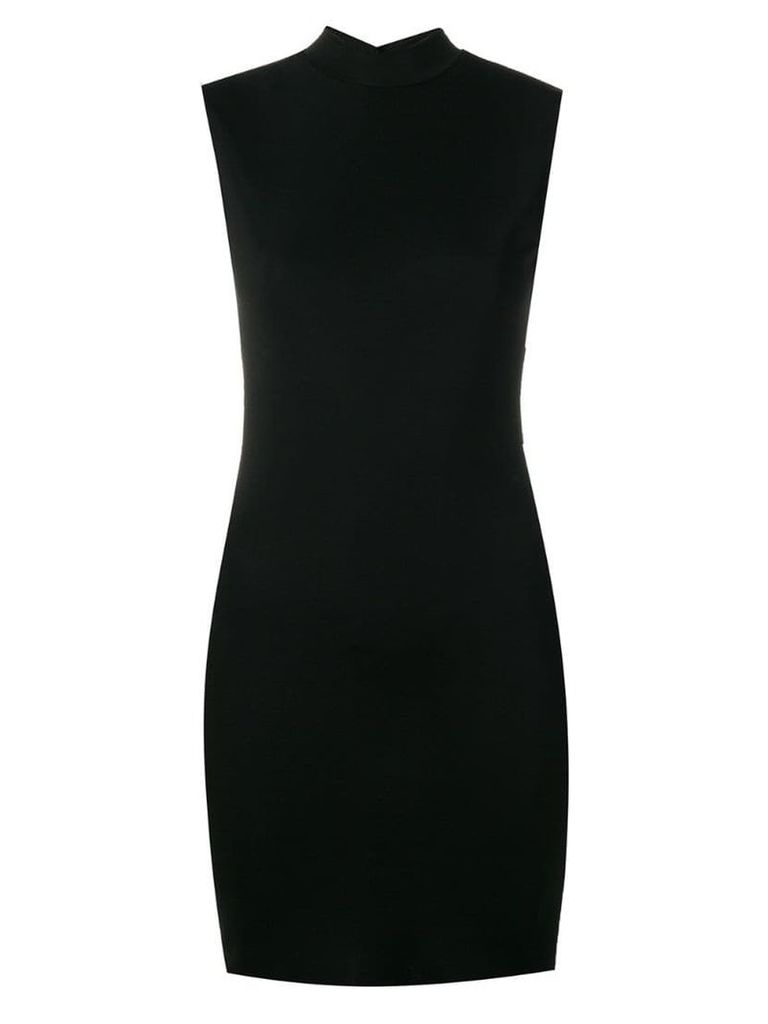 Styland stretch high neck dress - Black