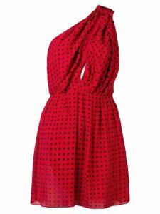 Saint Laurent star scandal draped dress - Red