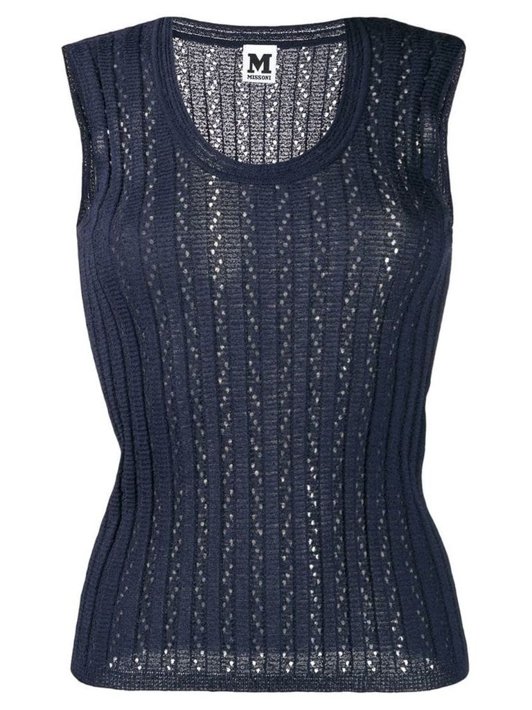 M Missoni ribbed vest top - Blue
