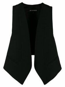 Ann Demeulemeester open front waistcoat - Black