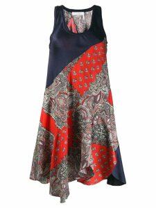 Chloé patchwork sleeveless dress - Blue