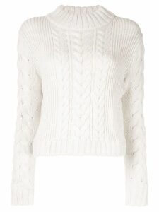 Sir. Iona cable knit jumper - White