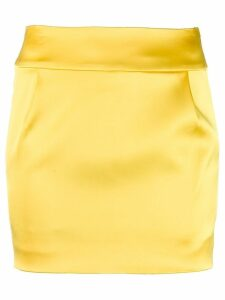 Alexandre Vauthier short pencil skirt - Yellow
