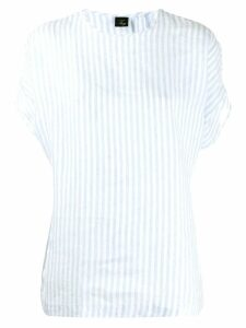 Fay striped short-sleeved top - Blue