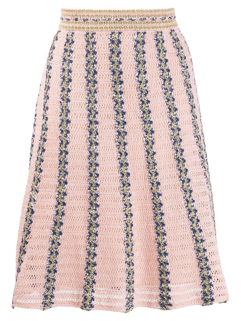 M Missoni crochet midi skirt - Pink