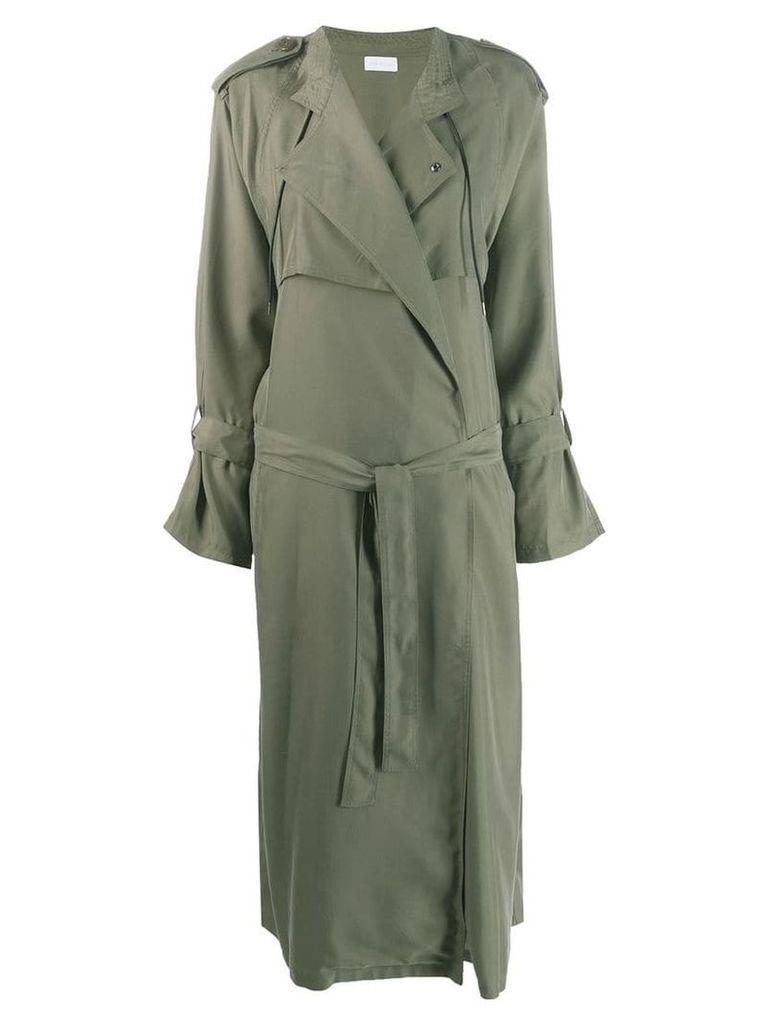 John Elliott belted trench coat - Green