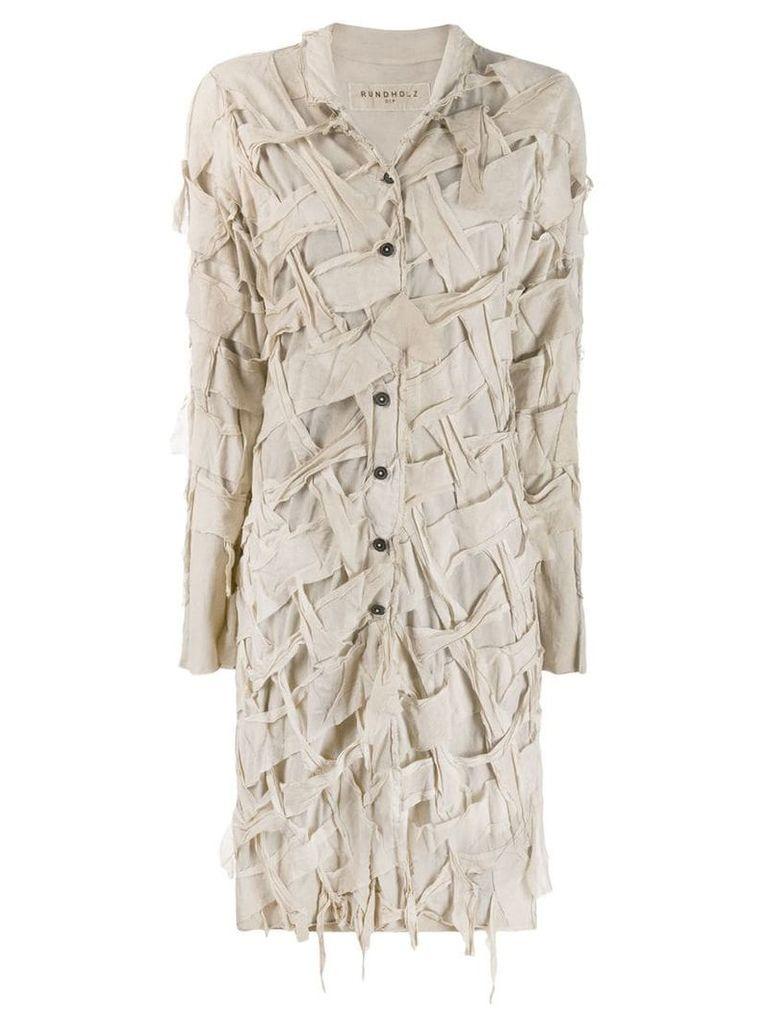 Rundholz distressed detail coat - Neutrals