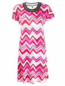 M Missoni chevron pattern shift dress - Pink