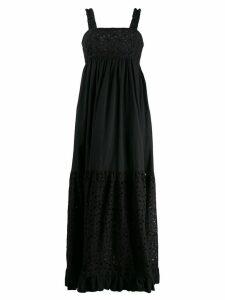 L'Autre Chose floral embroidered maxi dress - Black