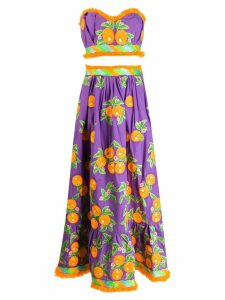 Yuliya Magdych Mandarin skirt set - Purple