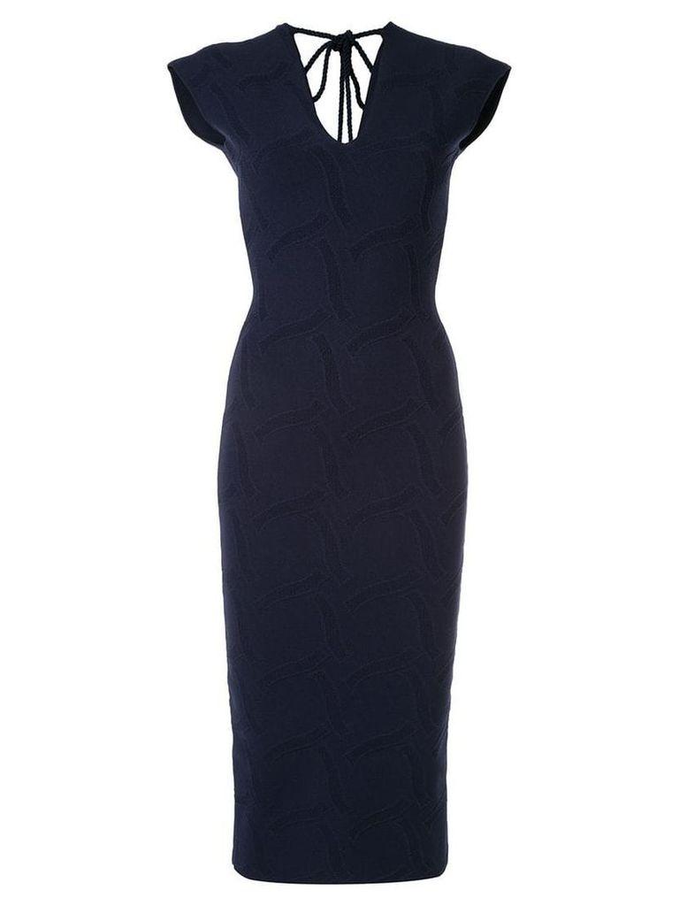 Roland Mouret Dorada bodycon dress - Blue