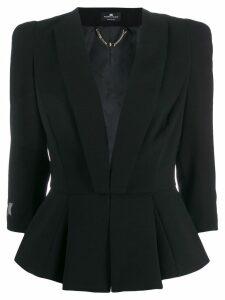 Elisabetta Franchi pleated waist blazer - Black