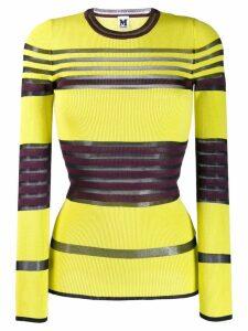 M Missoni striped ribbed jumper - Yellow
