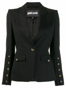 Just Cavalli tailored buttoned blazer - Black