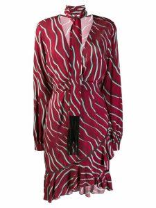 Just Cavalli zebra print scarf dress - Red
