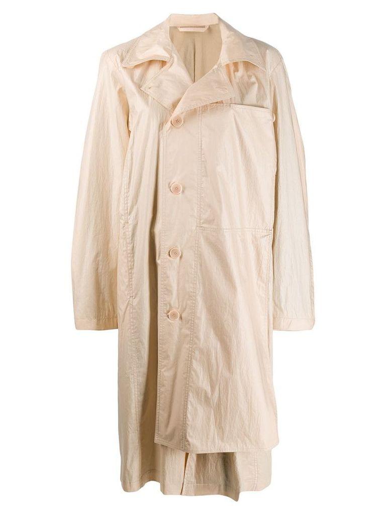 Lemaire off-centre button coat - Neutrals