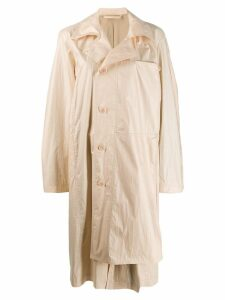 Lemaire off-centre button coat - Neutrals