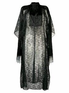 Christopher Kane lace fringe sleeve dress - Black