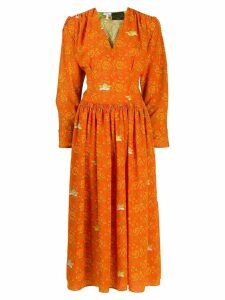 Loewe Ibiza midi dress - ORANGE