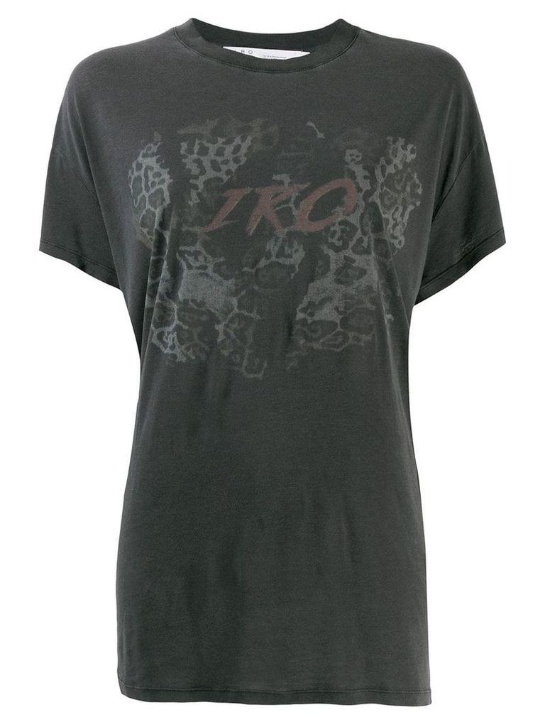 Iro printed loose fit T-shirt - Black