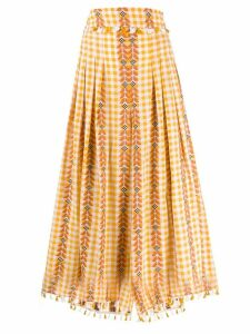 Dodo Bar Or gingham pleated skirt - Orange