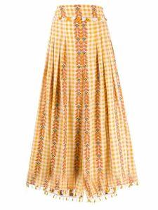 Dodo Bar Or gingham pleated skirt - Orange
